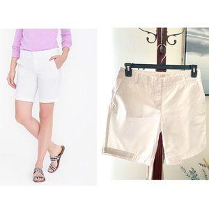 J.Crew Chino size 6 white shorts
